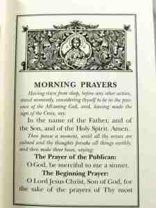 pray like jesus with memorized morning prayers