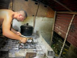 Traditional Papuan kitchen