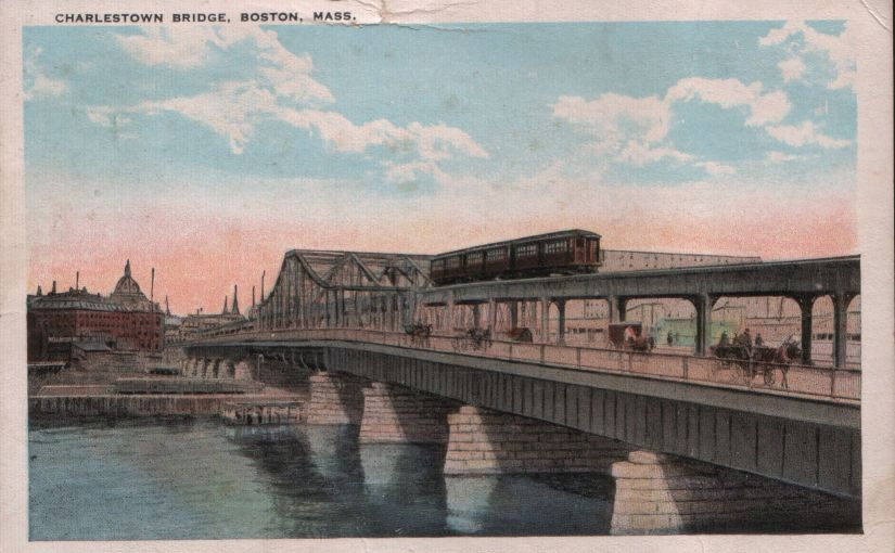 One Postcard Saturdays: Charlestown Bridge in Boston