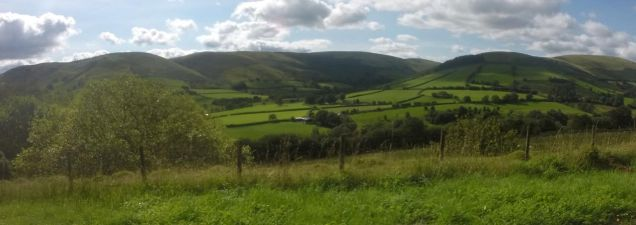 Heading to Talbont on the A44