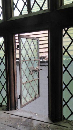 Original leaded glass window