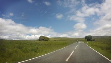 Riding home from New Quay - A4069 through the Black Mountains