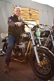 Jerry Hutchinson on his Metal Malarkey Build 750 Triumph Freemore