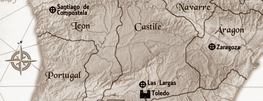 The Apprentice Stone Map - sepia strip