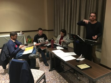 A vocal rehearsal on Wednesday night!