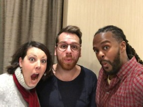 Amber, Kevin, and Darren... cooking up holy mischief