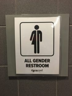 It was great to have gender neutral bathrooms... and everyone was just fine!
