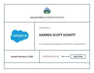 Image of Salesforce Administrator Certification