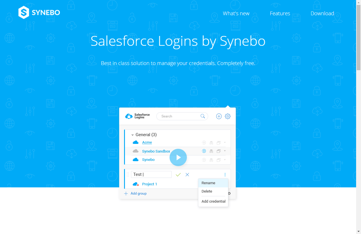 Synebo Salesforce Login Manager