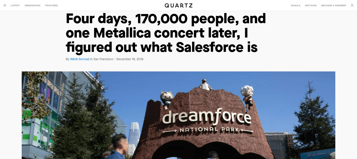 Excellent Article about Salesforce as a Phenomenon