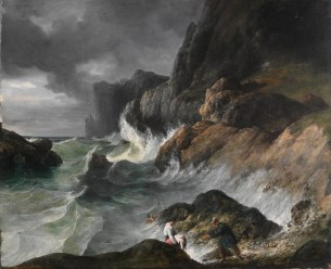 Working Title/Artist: Stormy Coast Scene after a Shipwreck Department: European Paintings Culture/Period/Location: HB/TOA Date Code: Working Date: (1830) mma digital photo #DP109411