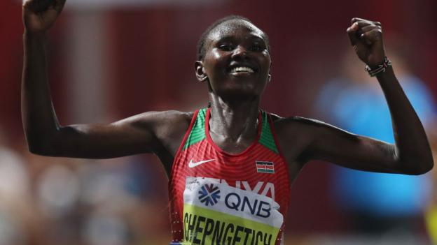 Chepngetich wins women's marathon as many athletes pull out in Doha heat