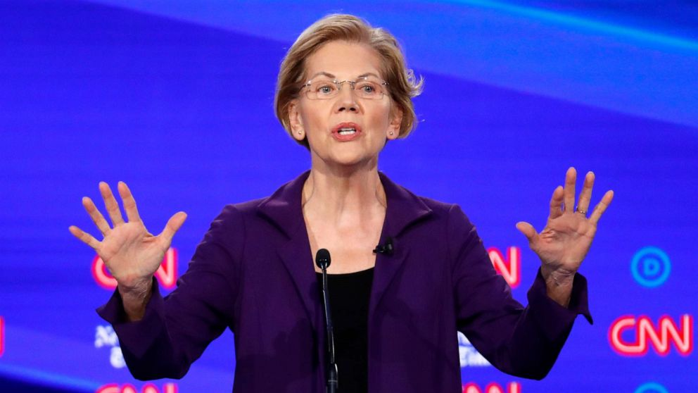 ANALYSIS: Warren takes fresh heat in scattered Democratic debate