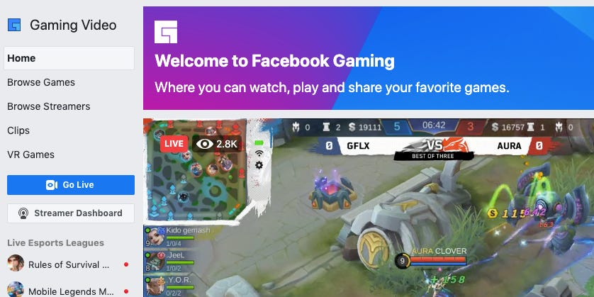 Twitch just lost another star streamer, this time to Facebook Gaming