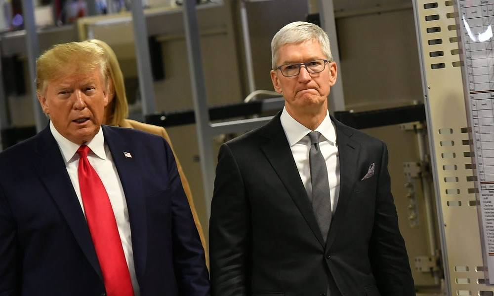 Tim Cook's personal security and travel expenses surged in 2019 as Trump's trade war with China threatened to gash Apple's profit (AAPL)
