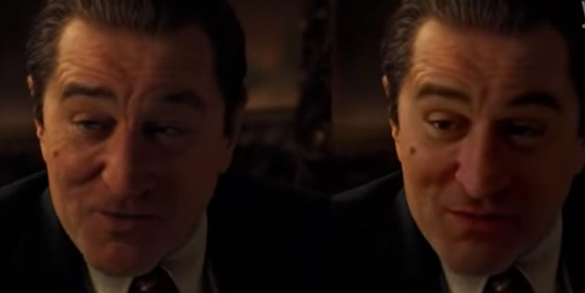 A deepfake artist's attempt to make Robert De Niro look younger in 'The Irishman' is being hailed as superior to Netflix's CGI
