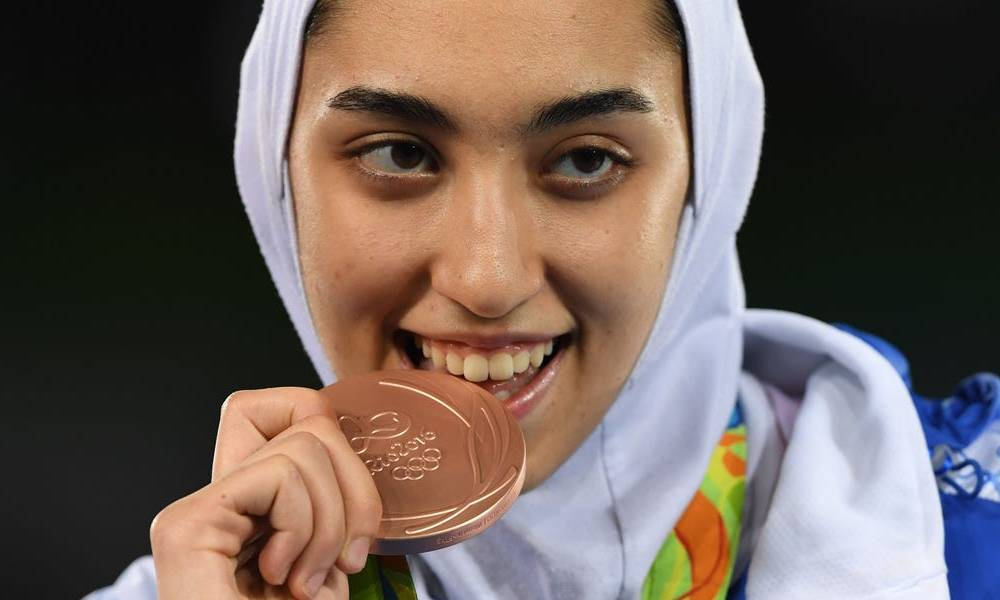 Iran's only female Olympic medalist defected to Europe, citing the country's oppressive treatment of women in a goodbye Instagram post