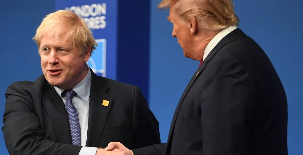 Boris Johnson says people who oppose a Brexit trade deal with Trump are 'juvenile' and need to 'grow up'