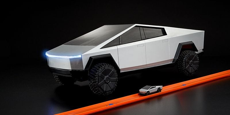 You can get your hands on a miniature version of Tesla's new Cybertruck this December — an RC car that can hit 25 MPH (TSLA)