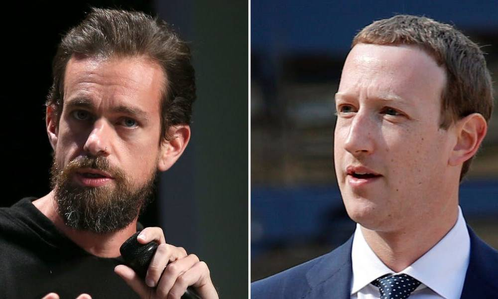Trump's executive order is pushing social media titans Mark Zuckerberg and Jack Dorsey to clash over how they handle free speech (FB, TWTR)