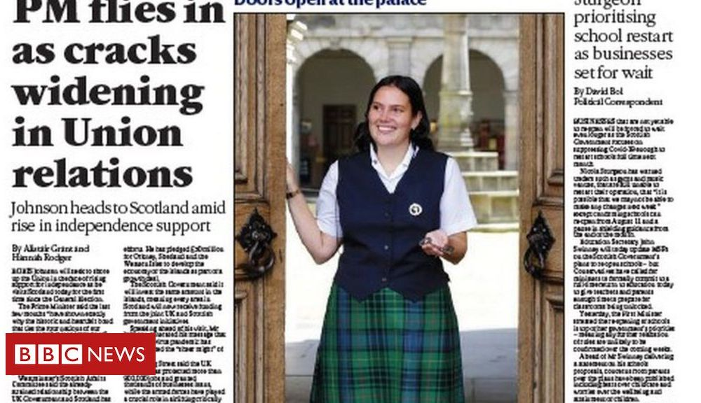 Scotland's papers: Boris heads to Scotland in 'battle to save Union'