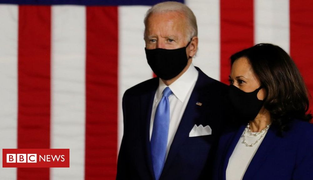 Trump US 2020: Biden campaign says Trump 'abhorrent' for fuelling Harris conspiracy