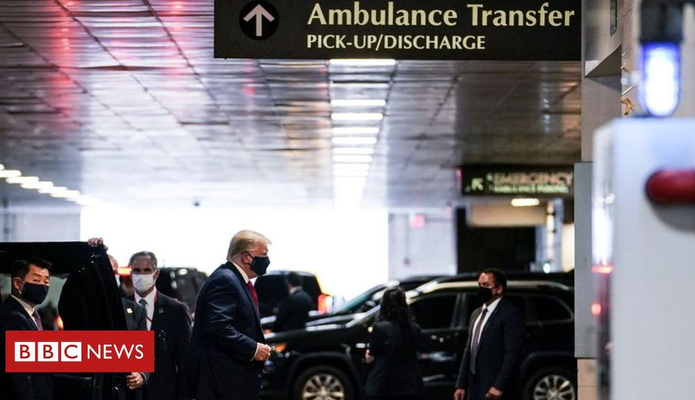 Trump Trump visits brother in New York hospital