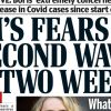 Newspaper headlines: PM's 'second wave' fears, and airport test calls