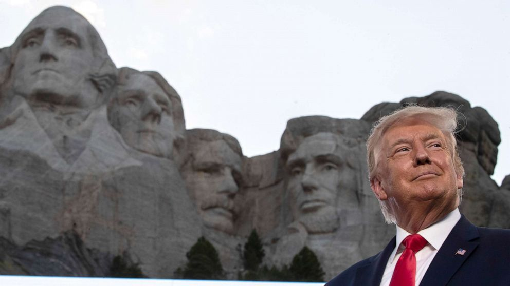 Trump denies WH asked about adding him to Mount Rushmore, then calls it a 'good idea'