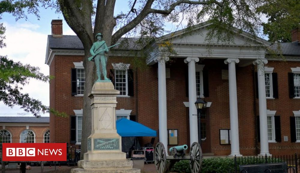 Trump Charlottesville: Confederate soldier statue removed