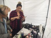 Hair and Makeup Tent / Portland Photo Producer in San Diego/ Capital One with Parliament