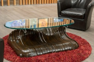 A Wooden Surf table