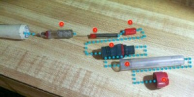 Assembling a cleaned Rapid-o-Graph pen