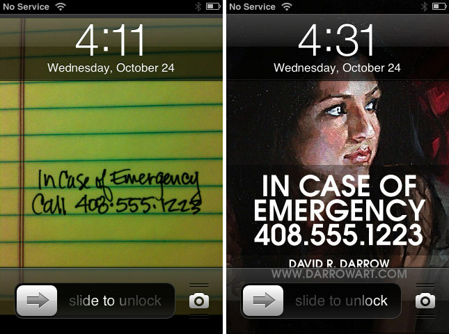 Using a custom image as an emergency number for your locked iPhone