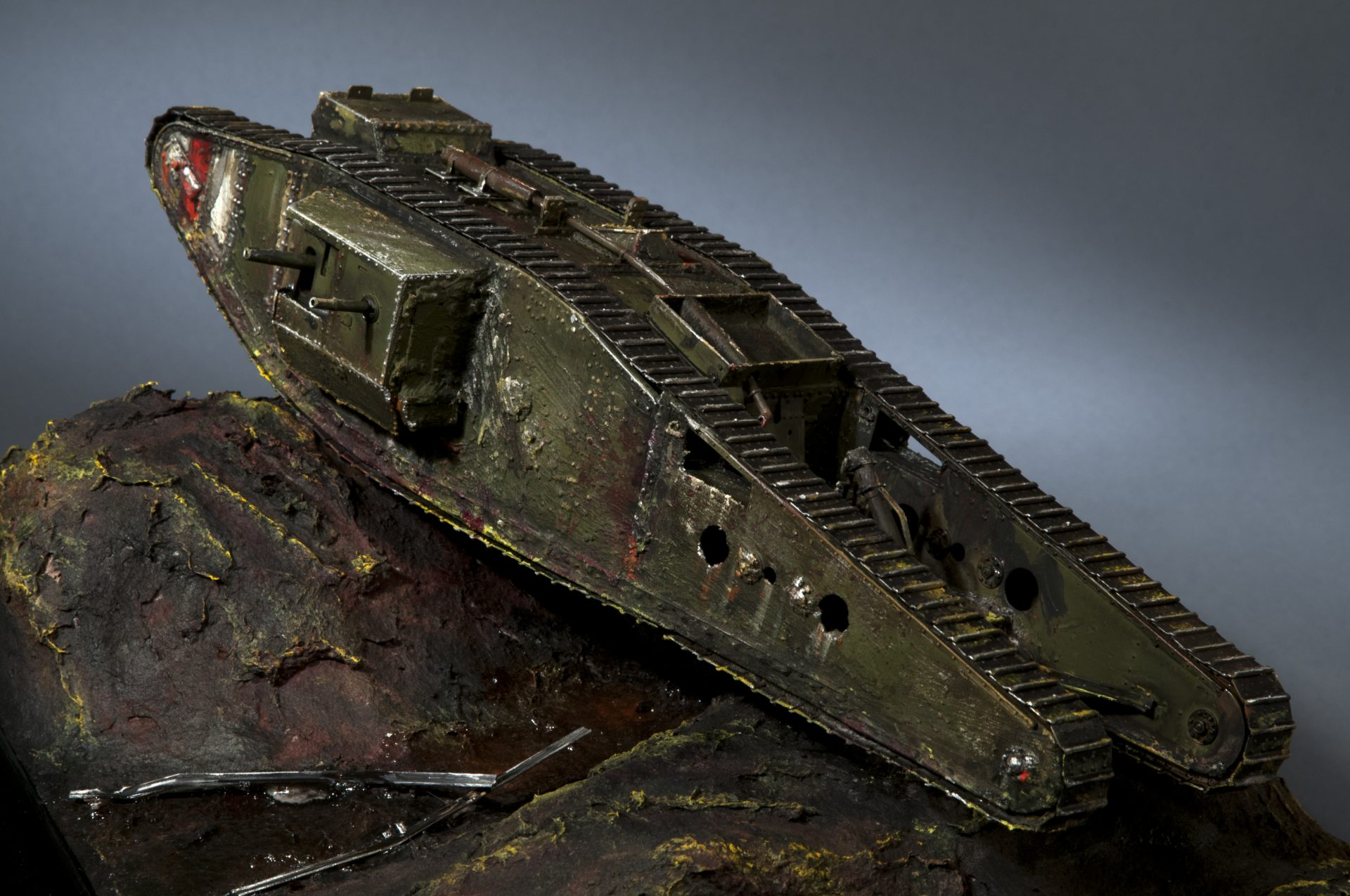 Weathered WW1 Tank by Darryl Audette