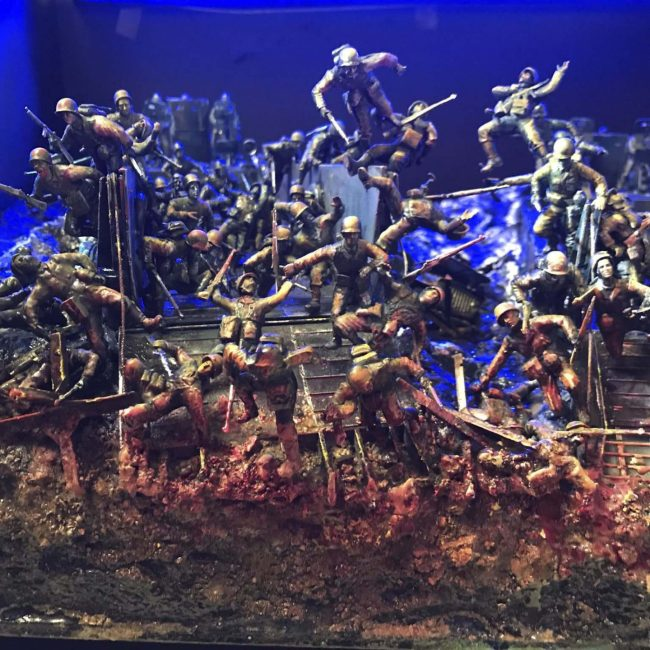 Dioramas depict D-Day landings