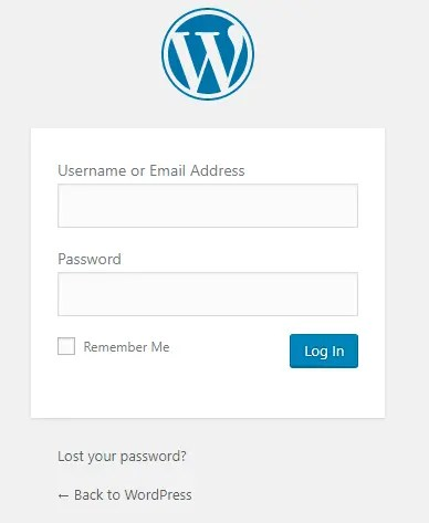 site login form