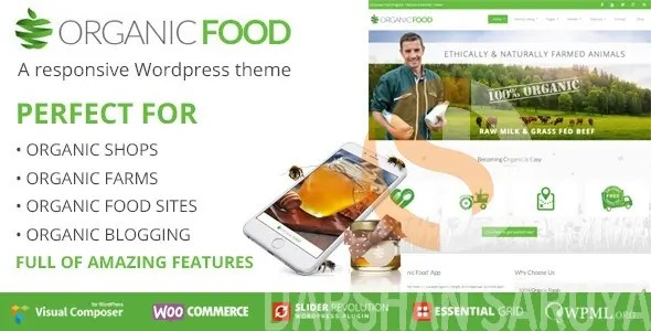 Organic Food Ecology & Environmental, Store & Bakery WooCommerce, Responsive WordPress Theme