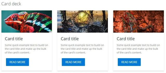 card Deck- Fluent Design UI