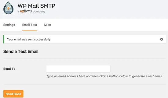 testing smtp mail