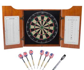 Solidwood dartboard cabinet
