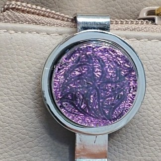 Magenta Dichroic Key Finder with Celtic Pattern