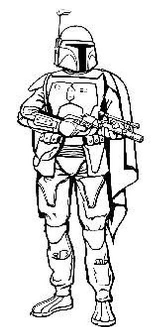 boba fett coloring page # 29