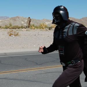 The ultimate summer vacation on Tatoonine - running around the desert dressed as Anakin Skywalker.