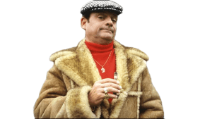 70's Only Fools and Horses star, David Jason, as Dell Boy