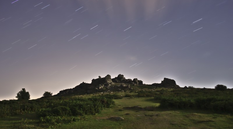 Star Trails over Hound Tor