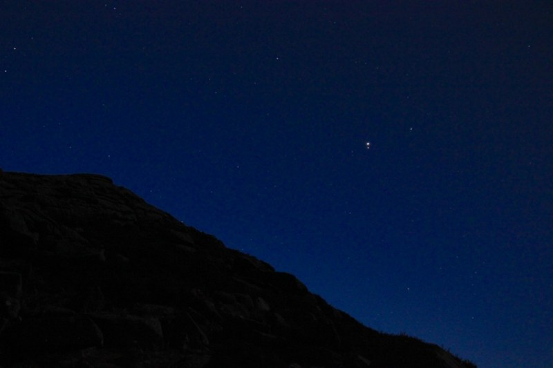 Mars and Jupiter over Sharp Tor