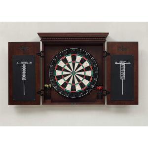 American Heritage Billiards Dartboard Cabinet