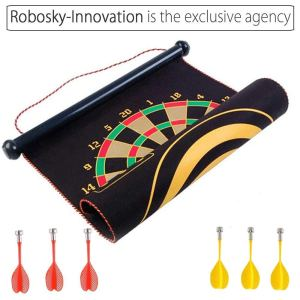 RobSky Roll-Up Magnetic Dartboard