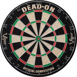 Viper Dead-On Tournament Bristle Steel Tip Dartboard Set